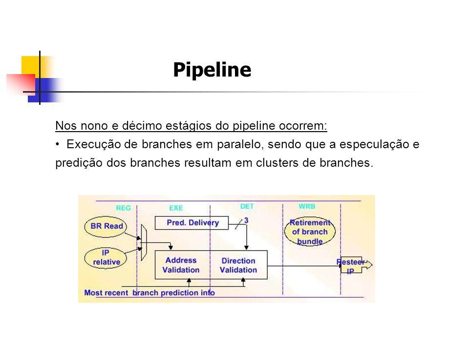 Pipeline Nos nono e décimo estágios do pipeline ocorrem: