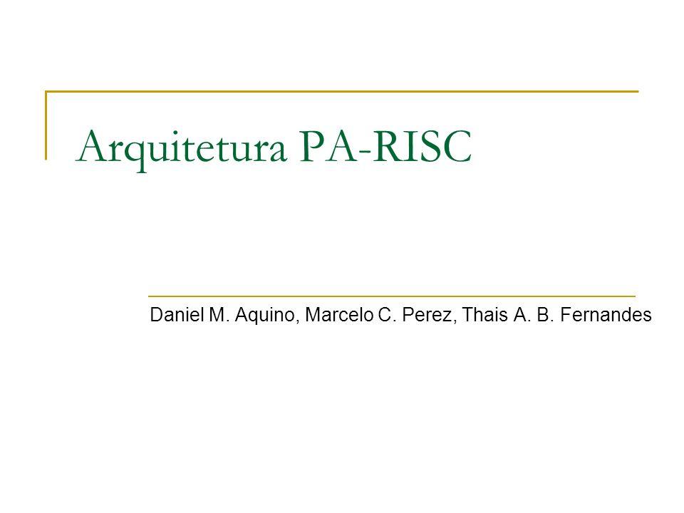 Daniel M. Aquino, Marcelo C. Perez, Thais A. B. Fernandes
