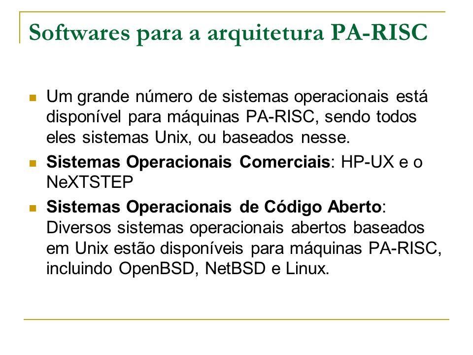 Softwares para a arquitetura PA-RISC