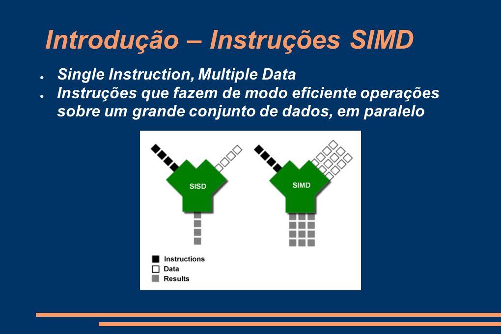 Introdução – Instruções SIMD