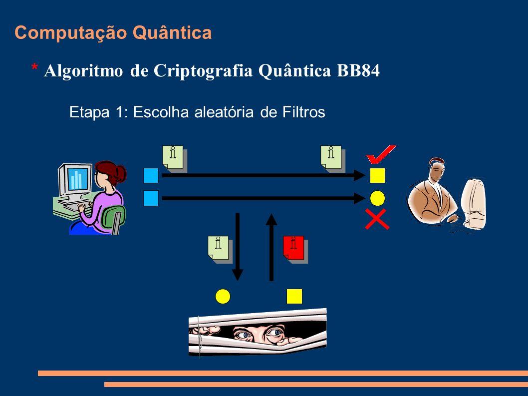 * Algoritmo de Criptografia Quântica BB84