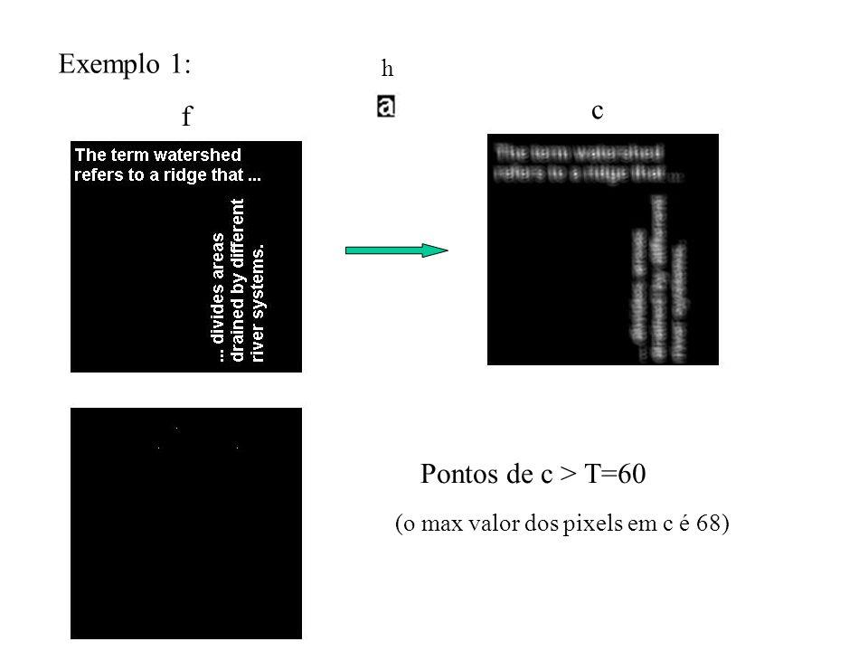 Exemplo 1: c f Pontos de c > T=60 h