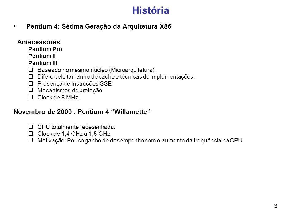 História Pentium 4: Sétima Geração da Arquitetura X86 Antecessores