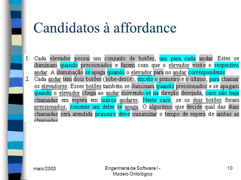 Candidatos à affordance