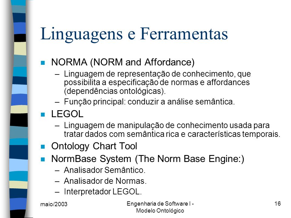 Linguagens e Ferramentas