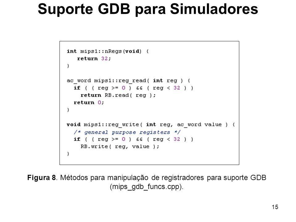 Suporte GDB para Simuladores