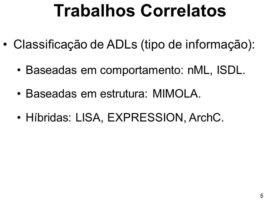 Trabalhos Correlatos Classificação de ADLs (tipo de informação):