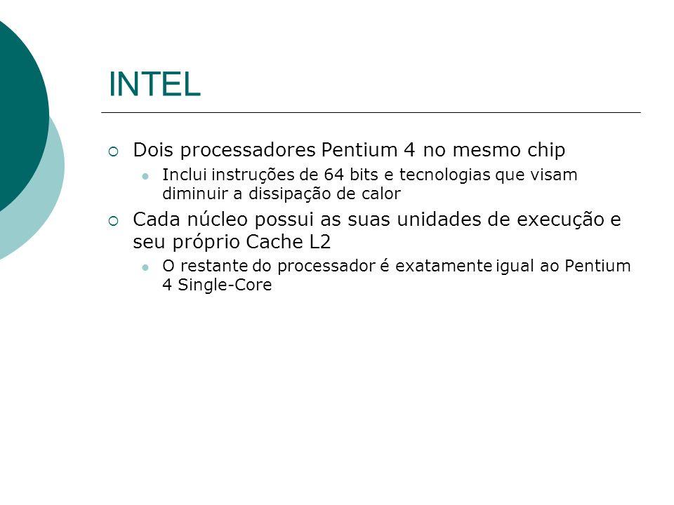 INTEL Dois processadores Pentium 4 no mesmo chip