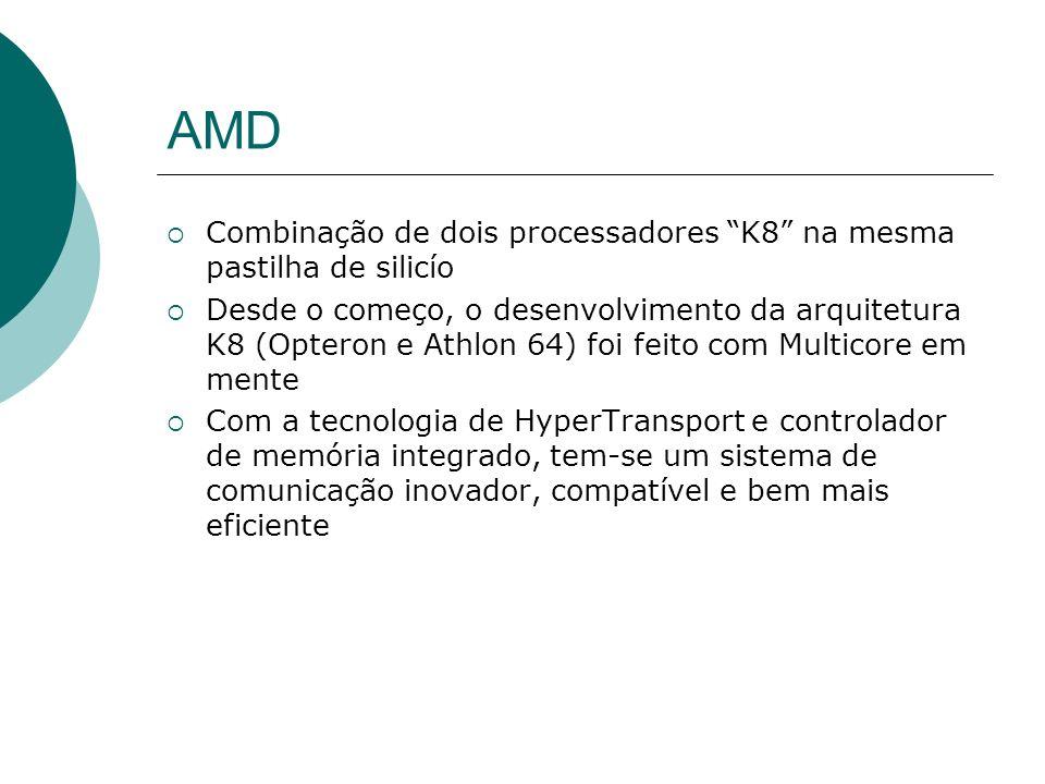 AMD Combinação de dois processadores K8 na mesma pastilha de silicío