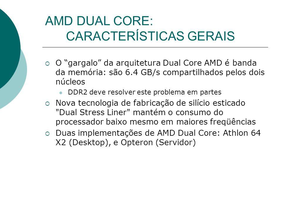 AMD DUAL CORE: CARACTERÍSTICAS GERAIS