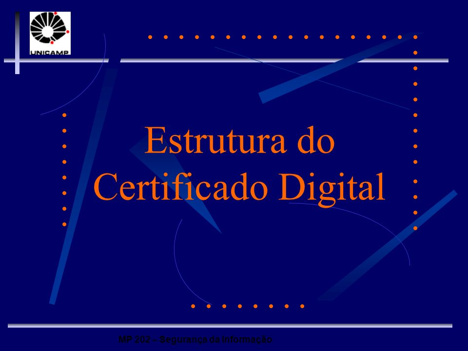 Estrutura do Certificado Digital