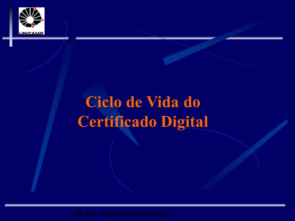 Ciclo de Vida do Certificado Digital