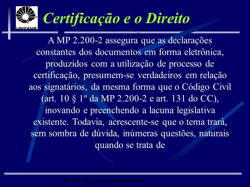 Certificação e o Direito