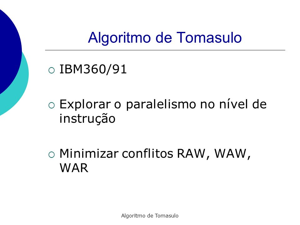 Algoritmo de Tomasulo IBM360/91