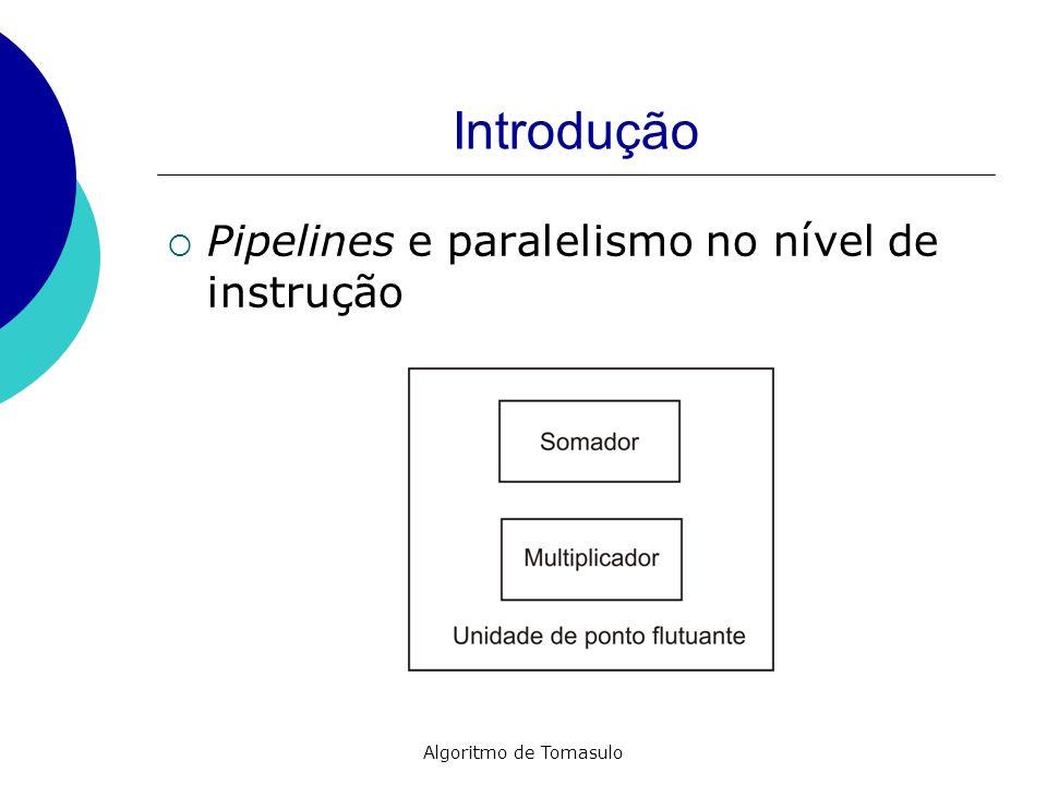 Introdução Pipelines e paralelismo no nível de instrução