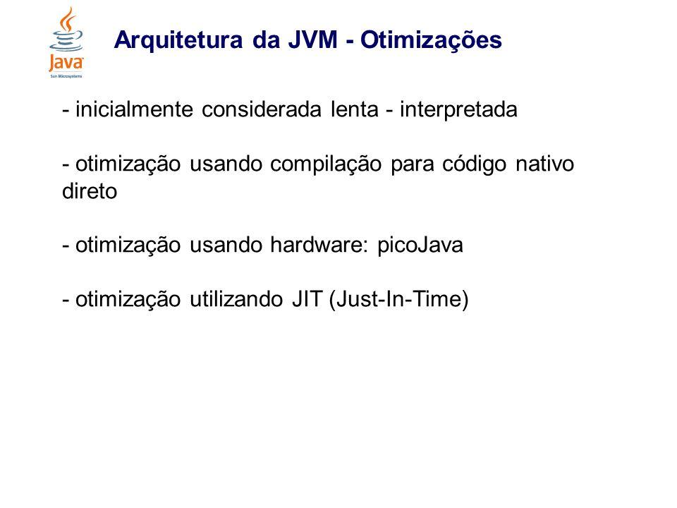 Arquitetura da JVM - Otimizações