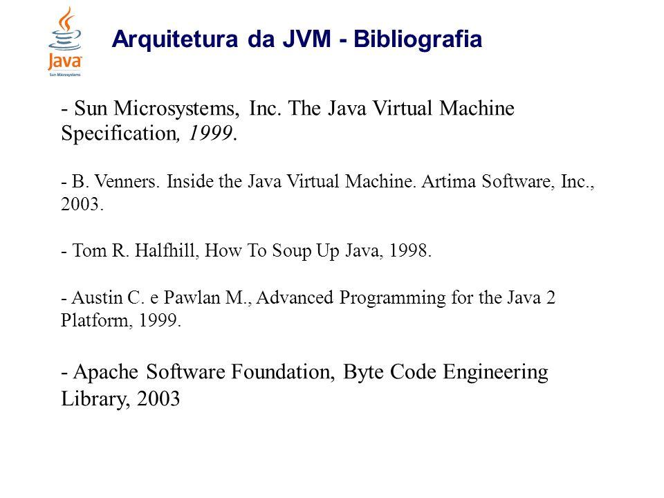 Arquitetura da JVM - Bibliografia