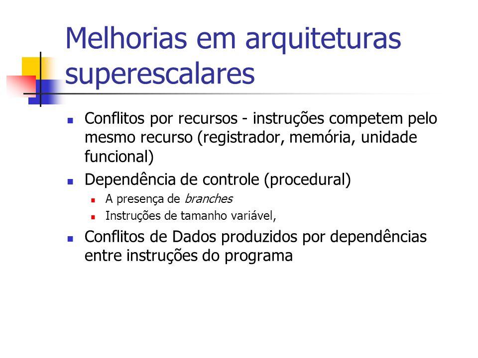 Melhorias em arquiteturas superescalares