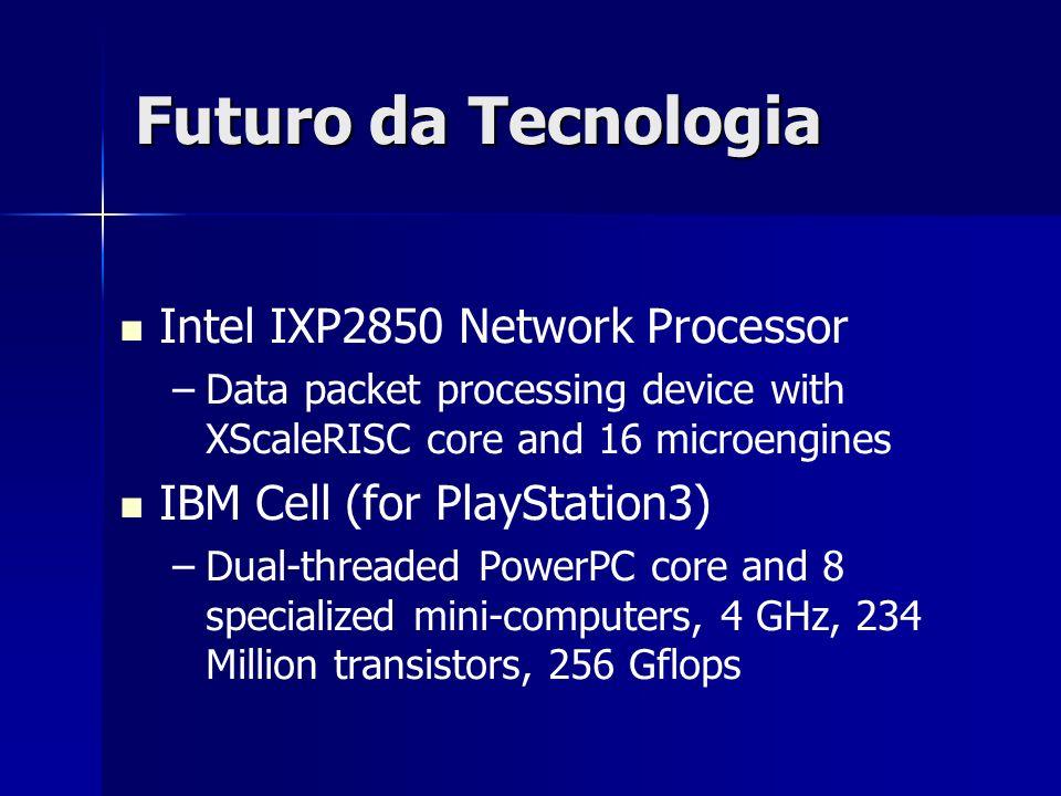 Futuro da Tecnologia Intel IXP2850 Network Processor