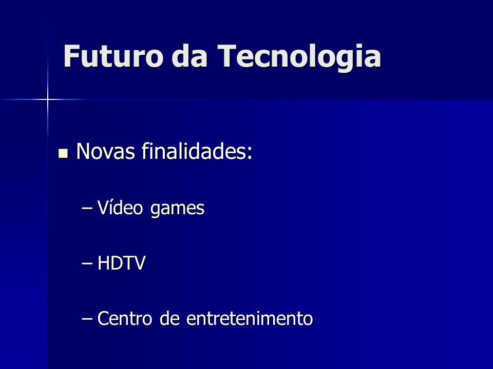 Futuro da Tecnologia Novas finalidades: Vídeo games HDTV