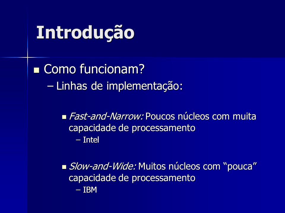 Introdução Como funcionam Linhas de implementação: