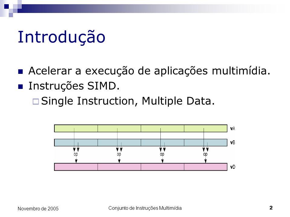 Conjunto de Instruções Multimídia