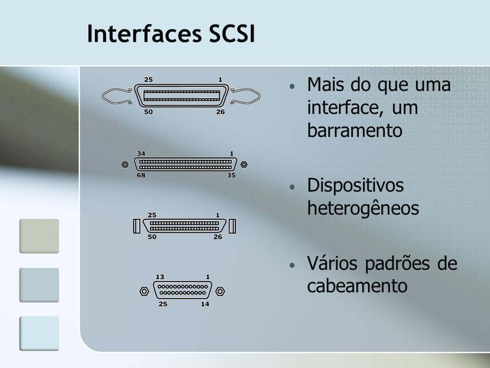 Interfaces SCSI Mais do que uma interface, um barramento