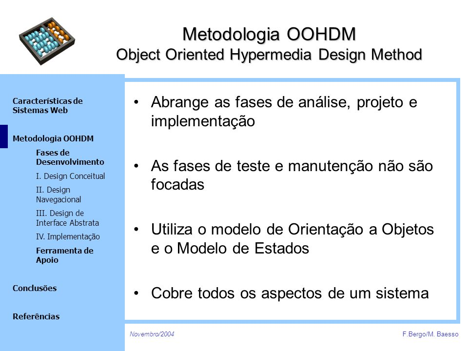 Metodologia OOHDM Object Oriented Hypermedia Design Method
