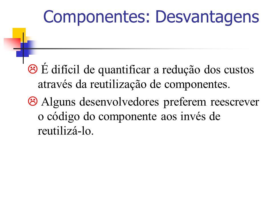 Componentes: Desvantagens