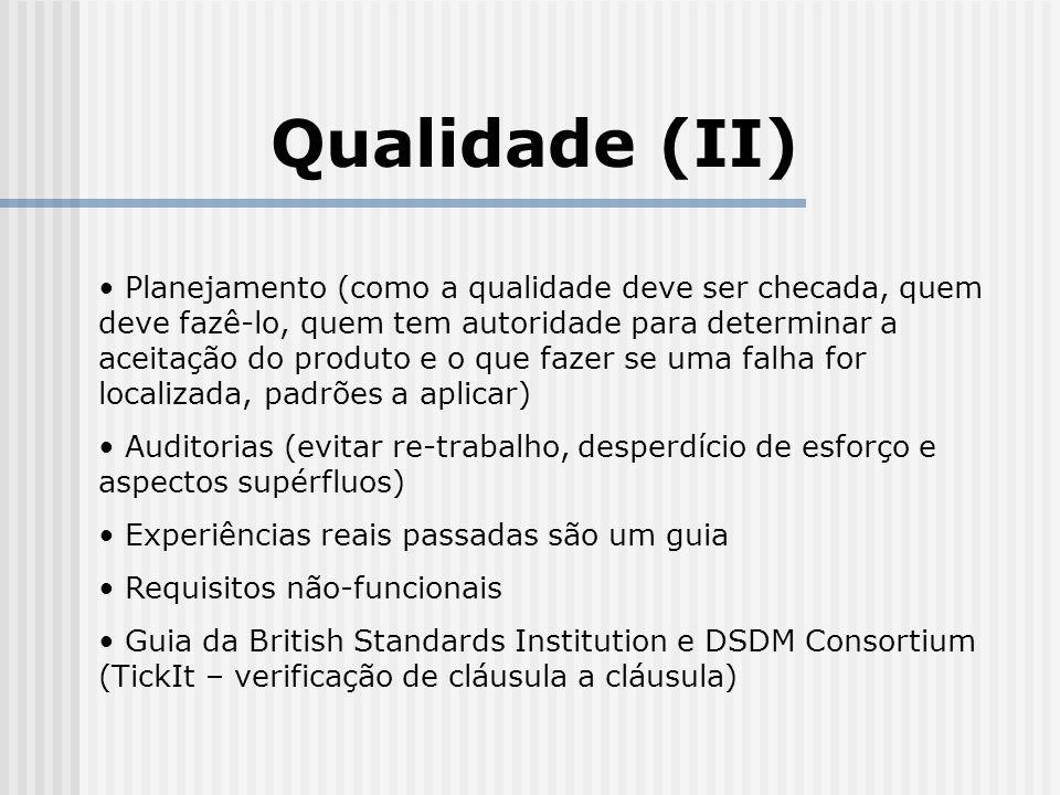 Qualidade (II)