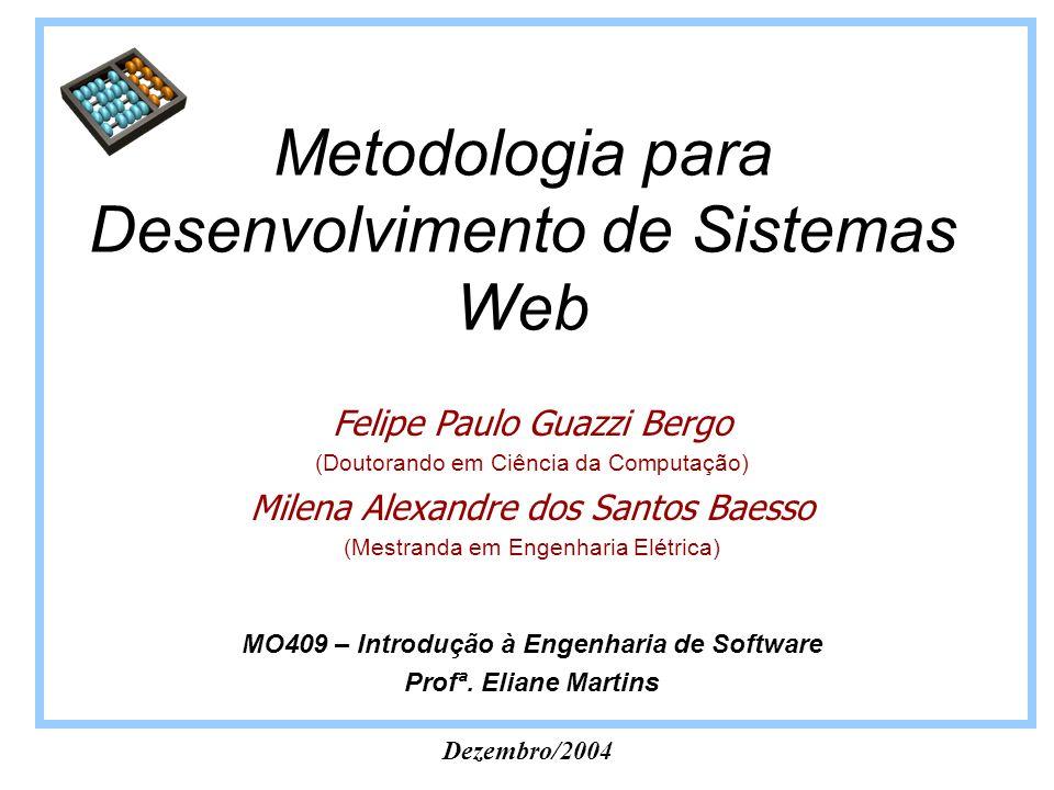 Metodologia para Desenvolvimento de Sistemas Web