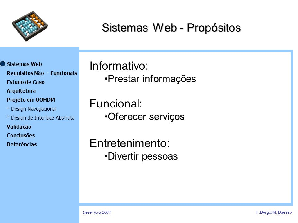 Sistemas Web - Propósitos