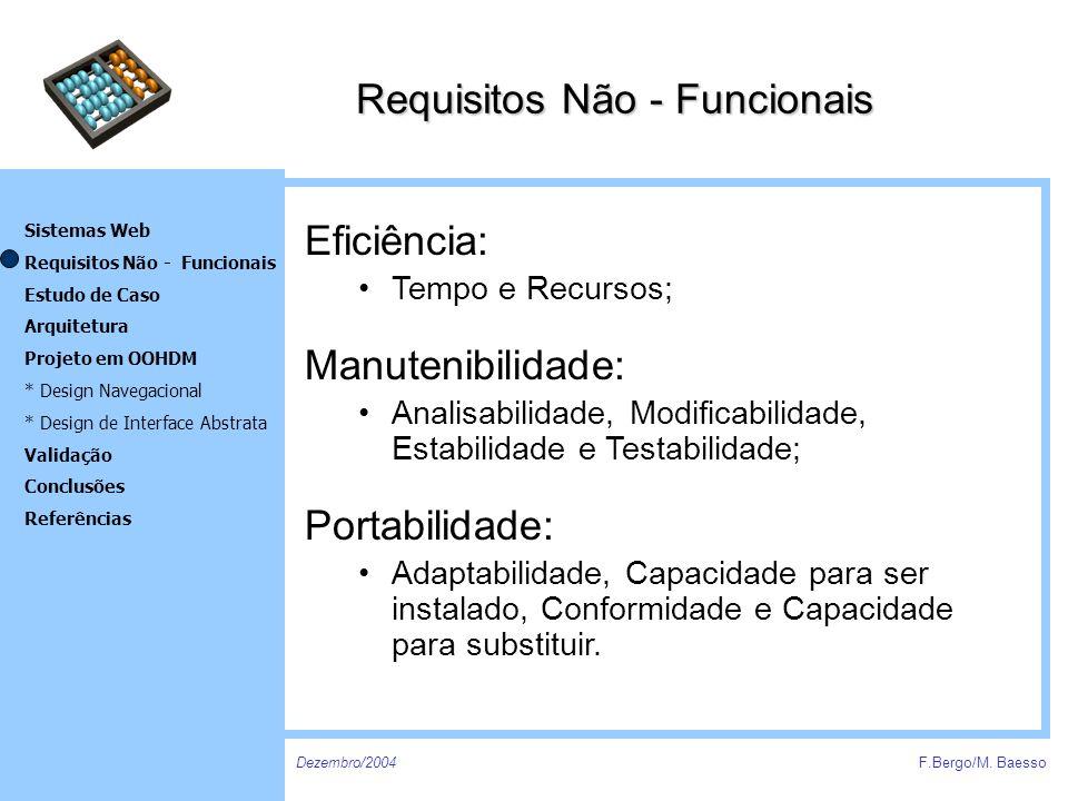 Requisitos Não - Funcionais