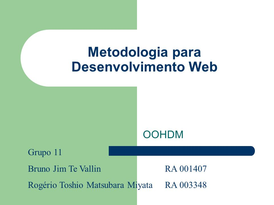 Metodologia para Desenvolvimento Web