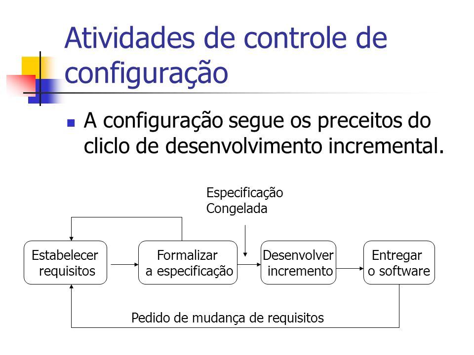 Atividades de controle de configuração