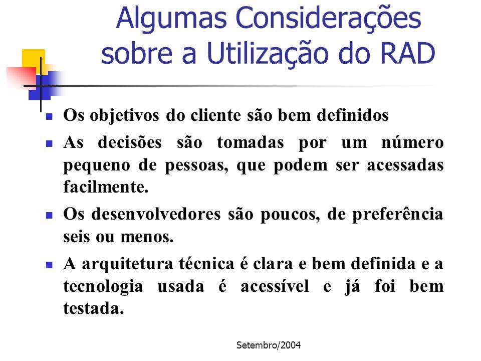 Algumas Considerações sobre a Utilização do RAD