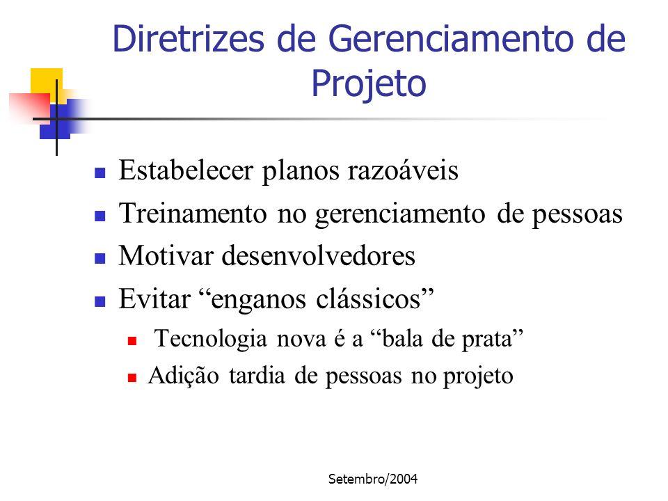 Diretrizes de Gerenciamento de Projeto