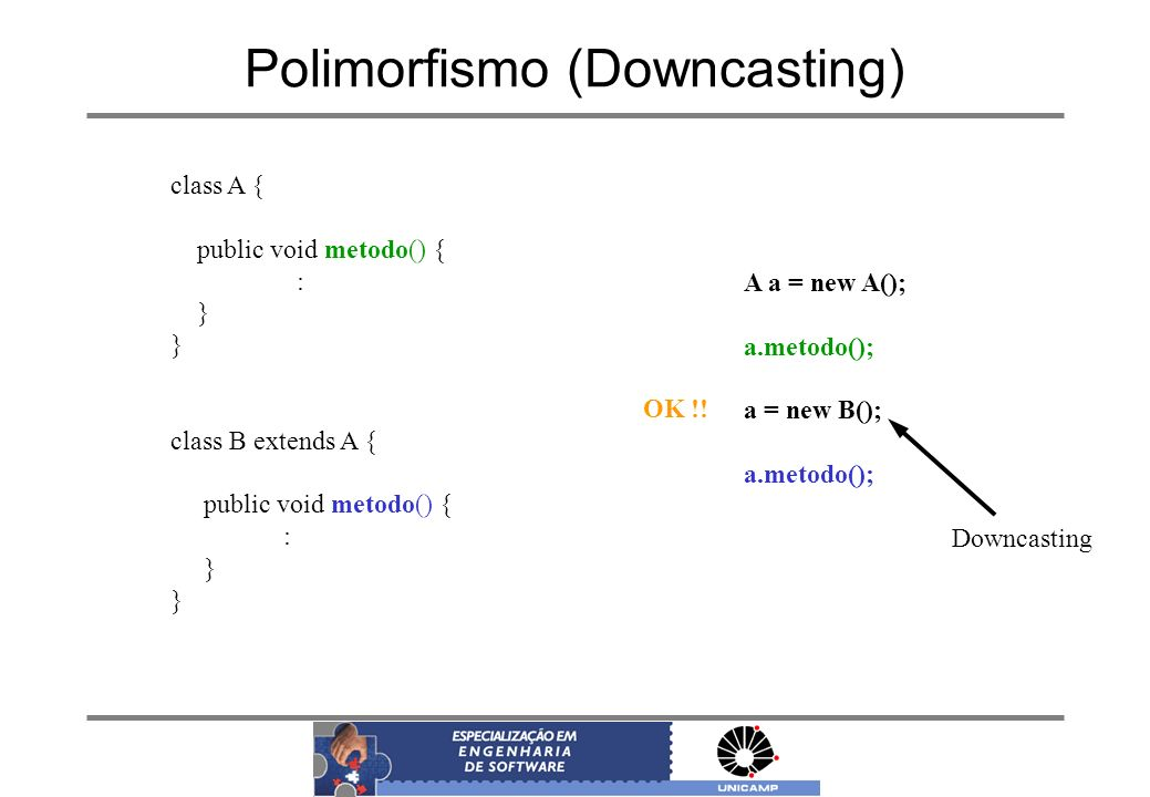 Polimorfismo (Downcasting)