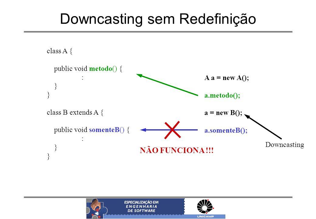Downcasting sem Redefinição