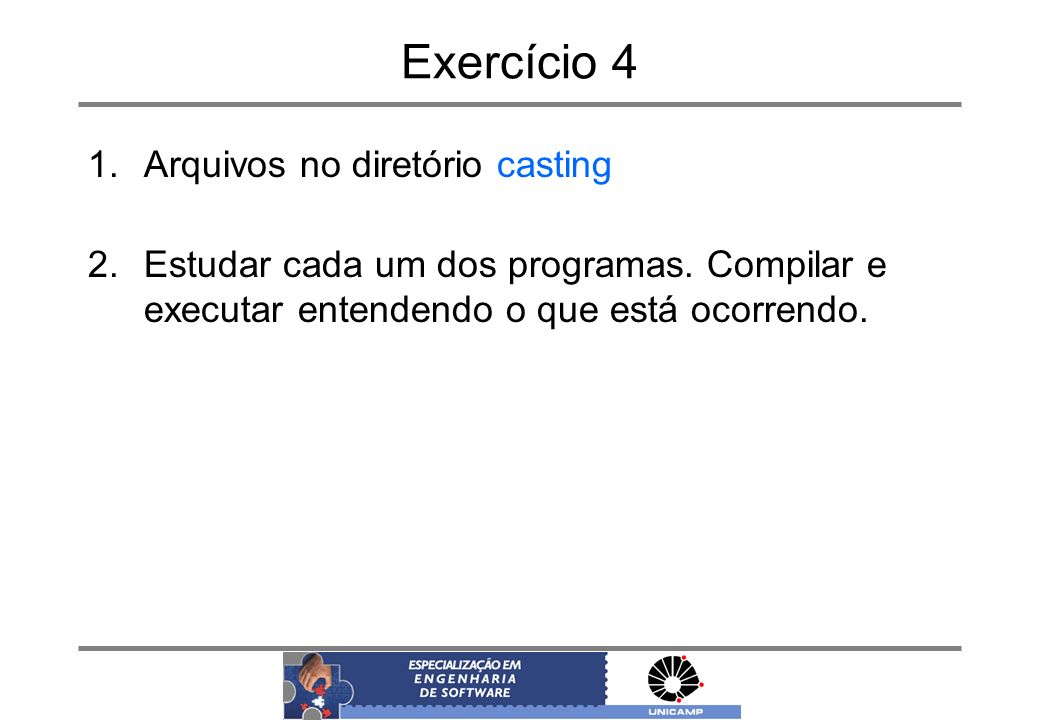 Exercício 4 Arquivos no diretório casting