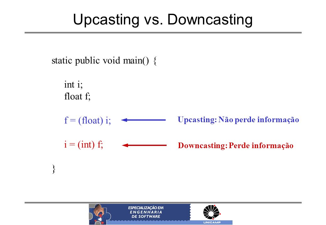 Upcasting vs. Downcasting