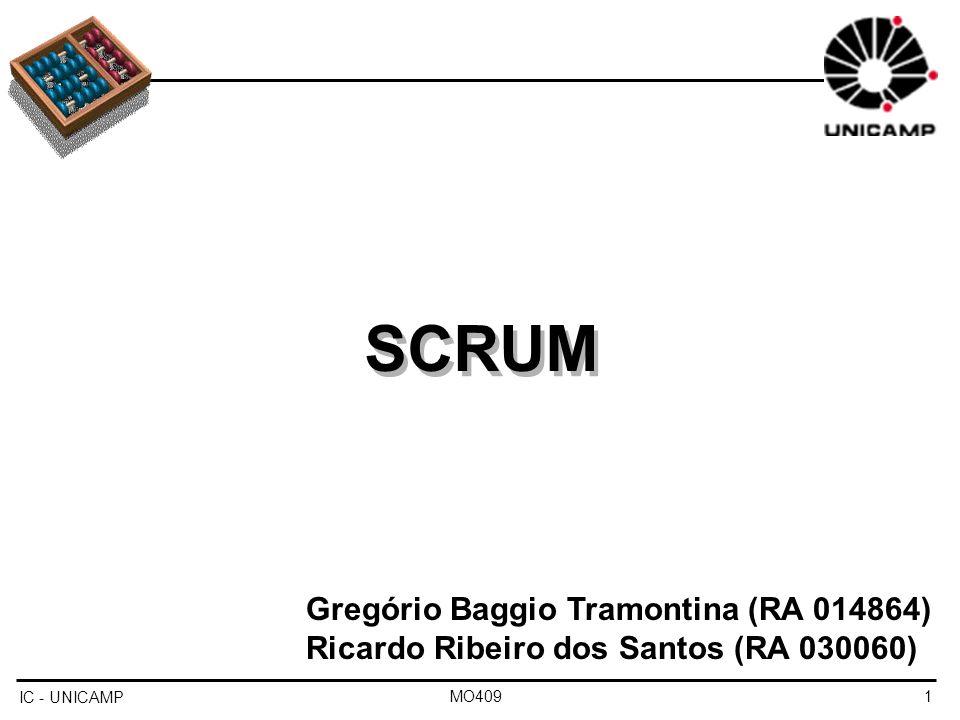 SCRUM SCRUM Gregório Baggio Tramontina (RA 014864)