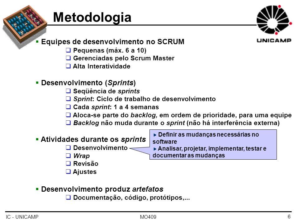 Metodologia Equipes de desenvolvimento no SCRUM