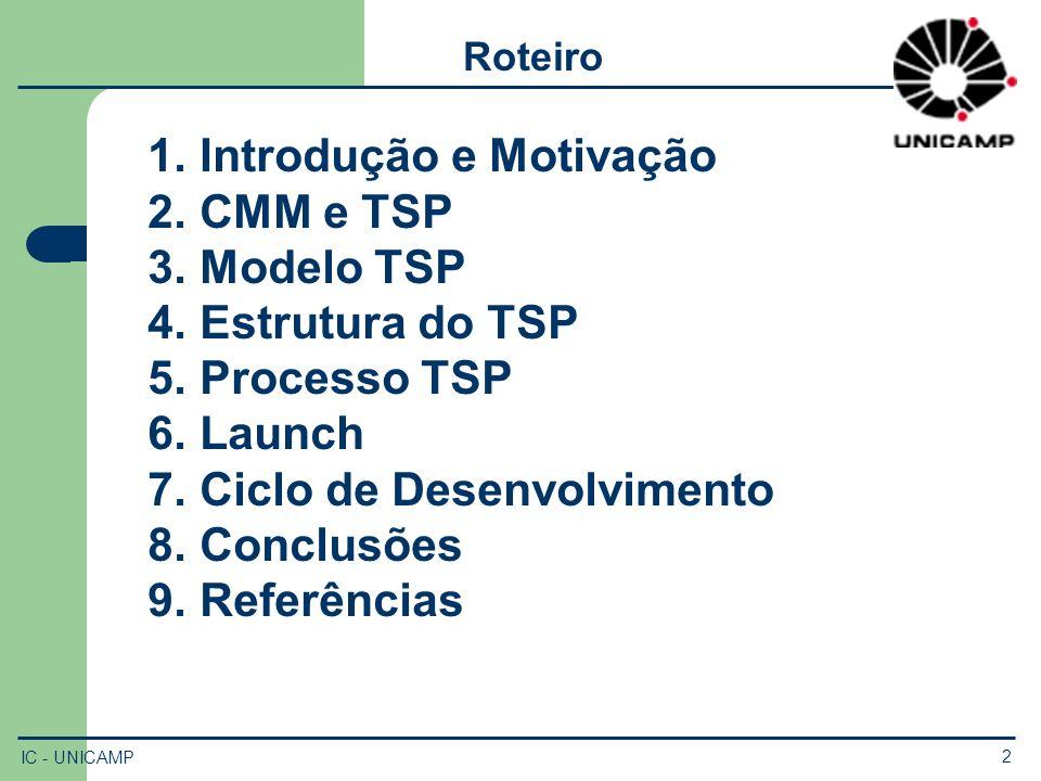Introdução e Motivação CMM e TSP Modelo TSP Estrutura do TSP