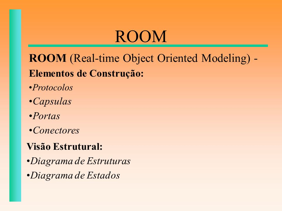 ROOM ROOM (Real-time Object Oriented Modeling) -