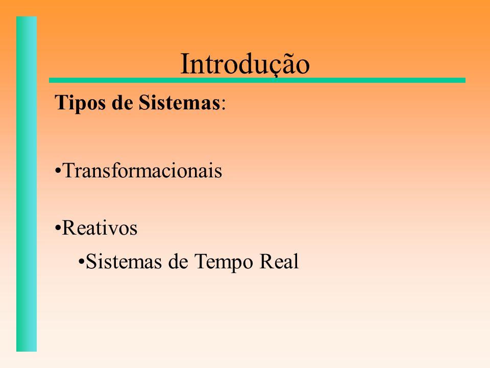 Introdução Tipos de Sistemas: Transformacionais Reativos