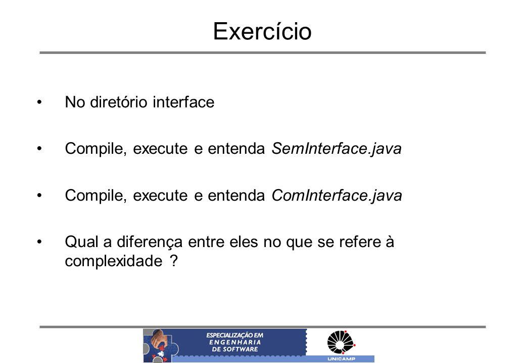 Exercício No diretório interface