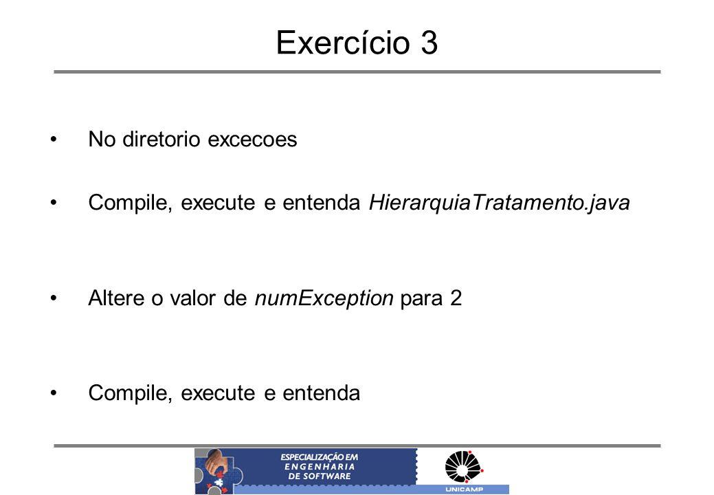 Exercício 3 No diretorio excecoes