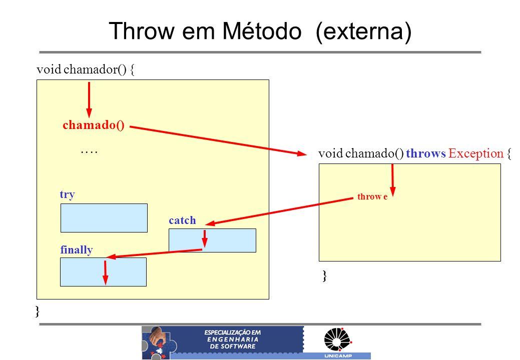 Throw em Método (externa)