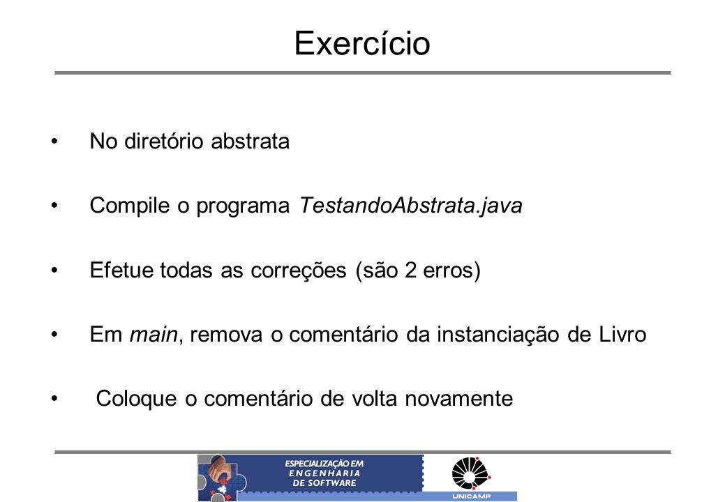 Exercício No diretório abstrata